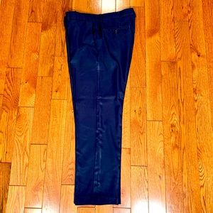 "HAGGAR NAVY BLUE COOL 18 PRO STRAIGHT FIT 36""x30"""
